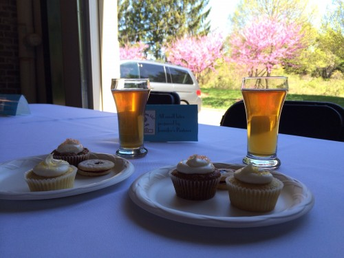 Beer and cupcakes at Old Ox Brewery.